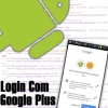 Google Plus API no Android, Realizando Login