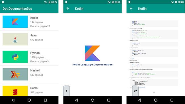 Aplicativo Android Dot.Documentações para PDFs