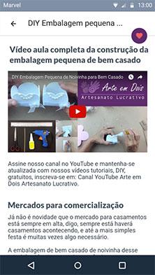 Artigo - área da vídeo aula