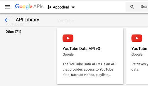 Acessando a YouTube Data API v3