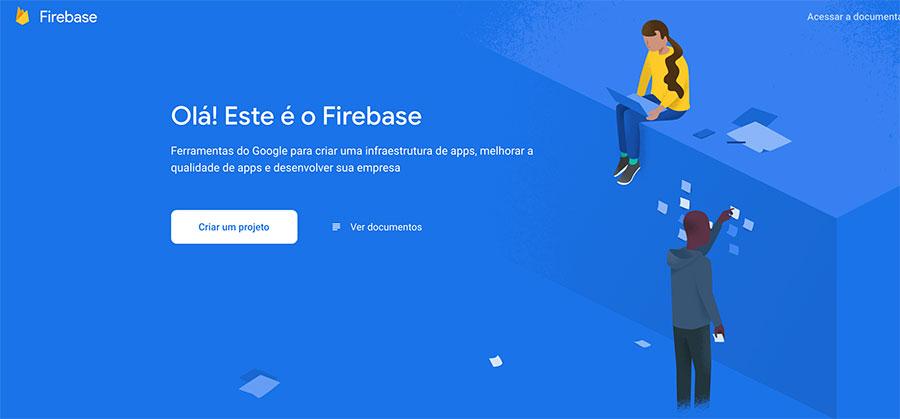 Home page Google Firebase