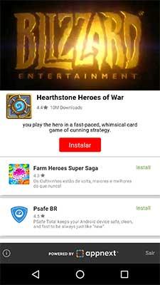 Anúncio Interstitial Android do Appnext