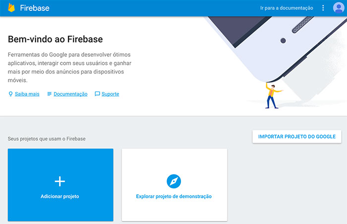 Dashboard do Firebase