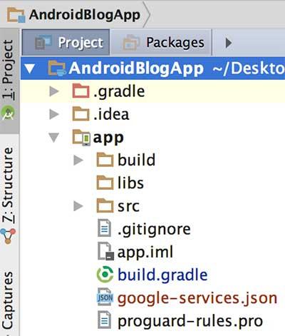 Adição do arquivo google-services.json ao projeto Android