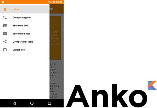 Aplicativo Android com a biblioteca Anko