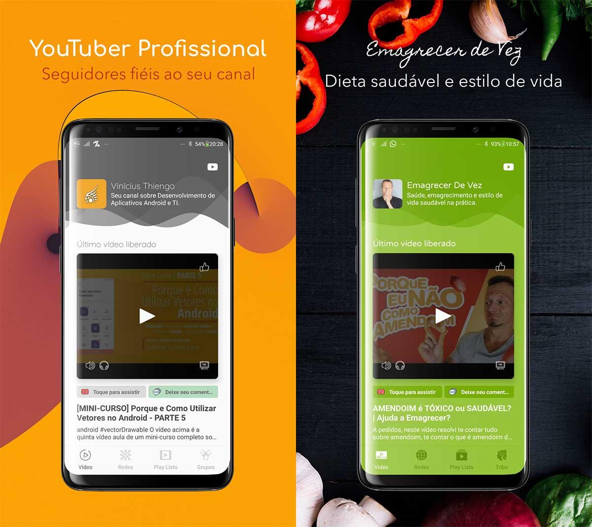 Aplicativos Android construídos com o app framework
