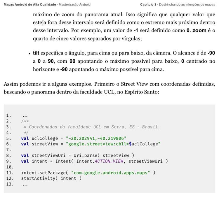 Formatação do livro Mapas Android de Alta Qualidade