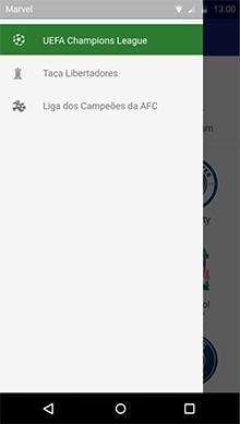 Menu gaveta do projeto Android
