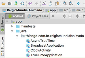 Arquitetura do projeto no Android Studio