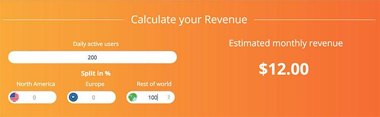 Calculadora Calldorado para estimativa de ganhos aproximados