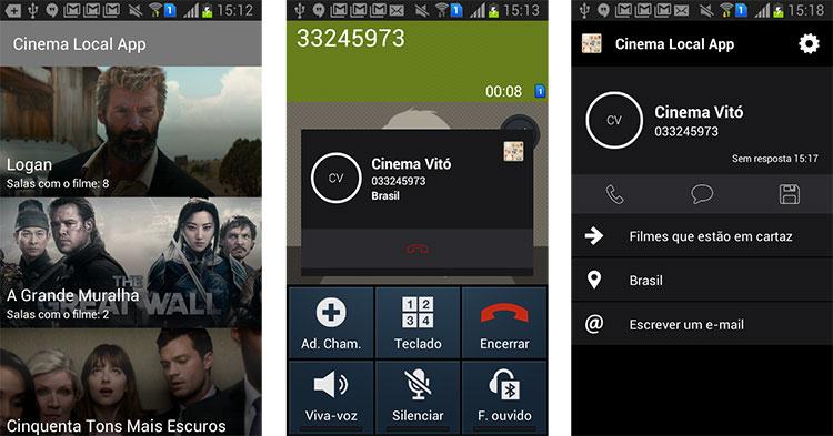 API Calldorado mostrando o número do cinema de Vitória