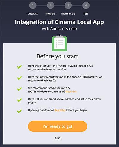 Primeiro passo da implementação da Calldorado API