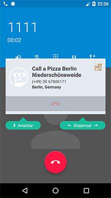 Calldorado API apresentando quem está em ligação