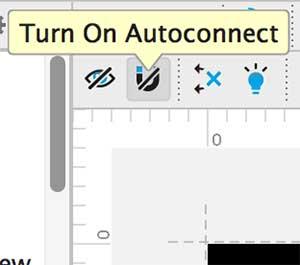 Ícone de Autoconnect em bloqueio