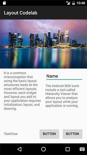 Projeto Android em portrait e com o ConstraintLayout