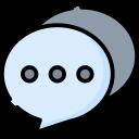 Ícone colorido de caixa de comentários
