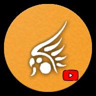 Ícone circular de abertura de aplicativo