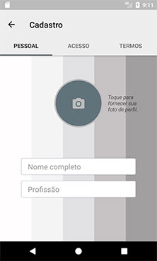 Visualização do layout fragment_sign_up_personal.xml