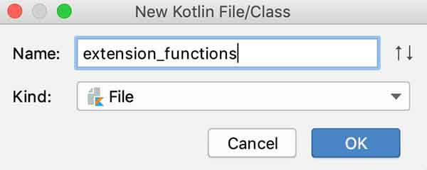 Criando o arquivo extension_functions.kt