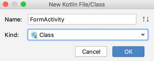 Criando a FormActivity