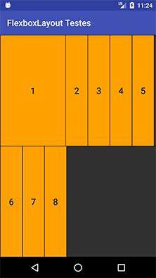 FlexboxLayout item com o atributo layout_minWidth
