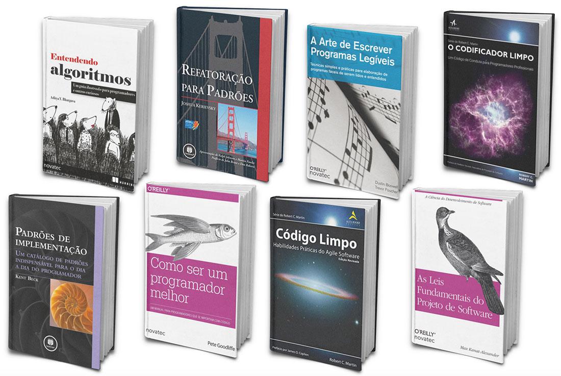Alguns livros de desenvolvimento que eu já li
