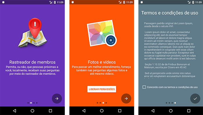 Todos os slides do aplicativo Android Questions?