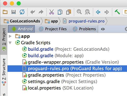 proguard-rules.pro no Android Studio