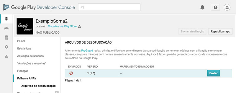 Projeto Android de exemplo na Google Play Store
