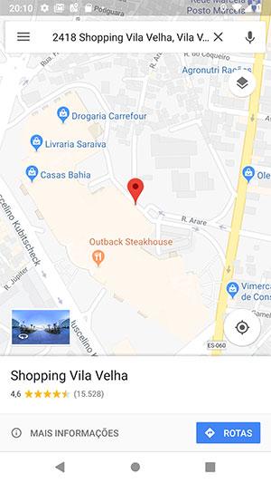 Local específico no Google Maps Android