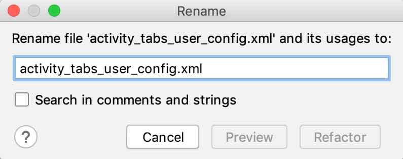 Renomeando o layout activity_config_connection_data.xml