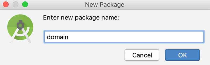 Criando um novo pacote no Android Studio