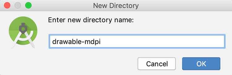 Criando um novo folder drawable