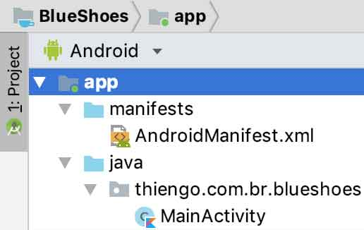 Arquitetura física do projeto Android BlueShoes
