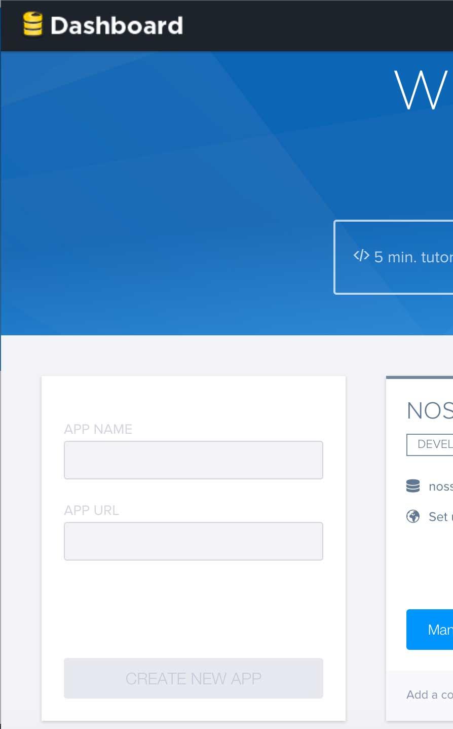 Criando um novo app no dashboard Firebase