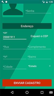 Tela de cadastro, finalizado, do aplicativo MarketplaceAPP