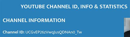 Obtendo ID de canal em YouTube Channel ID