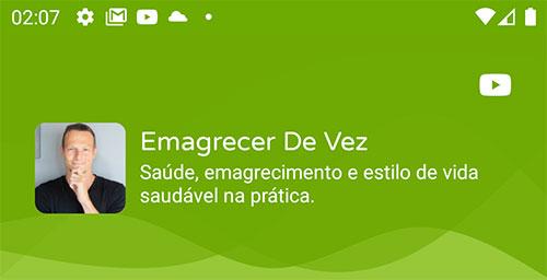 Topo do app Android de Emagrecer de Vez