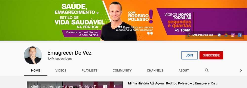 Canal YouTube Emagrecer de Vez