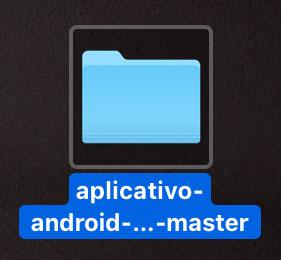Pasta do projeto Android quando descompactado