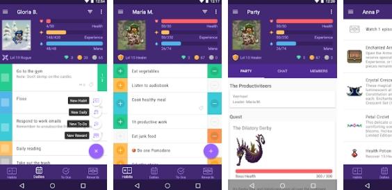 Aplicativo Android Habitica