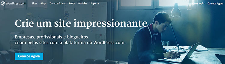 Home page WordPress Brasil