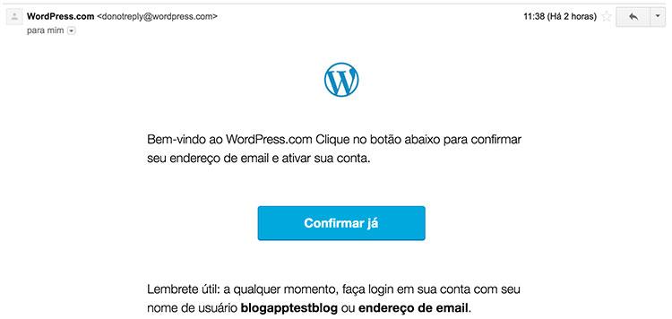 Email de confirmação de cadastro no WordPress