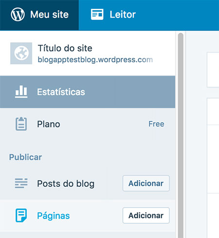 Menu de Páginas no WordPress