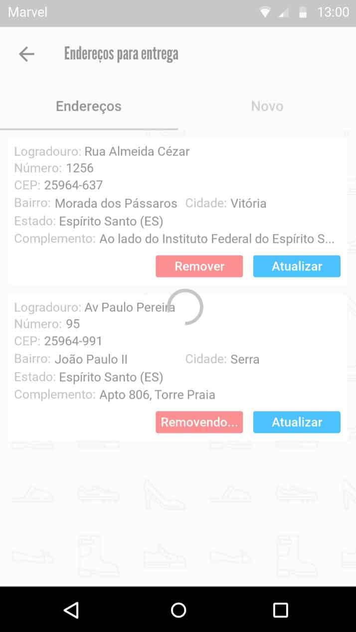 Load - remoção em back-end Web