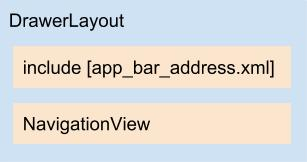 Diagrama do layout activity_address.xml