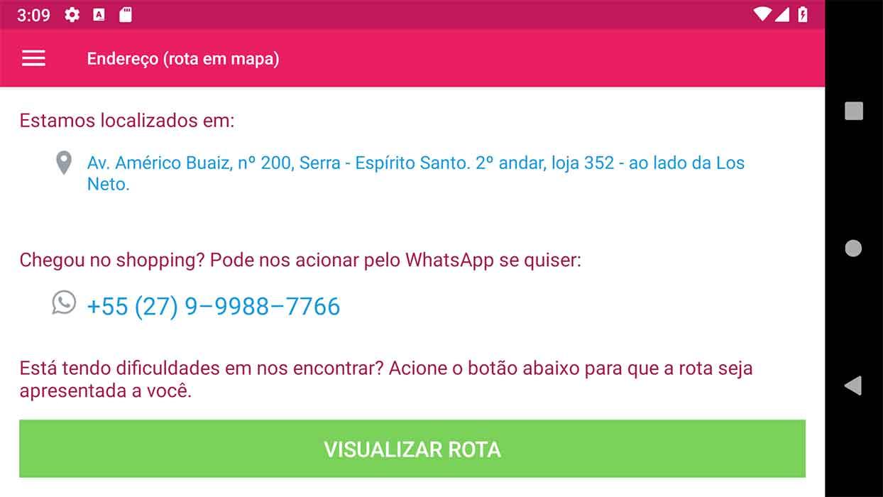Tela de endereço, na horizontal, com Autosizing TextView