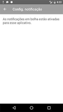 Tela do aplicativo de exemplo com o informe de permissão concedida