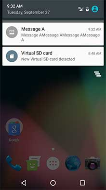 Notificação OneSignal em um aparelho Android