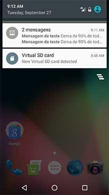 Nova notificação Android enviada via OneSignal